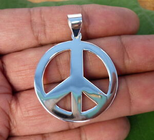 New 925 sterling silver peace sign symbol charm necklace pendants 31 image is loading new 925 sterling silver peace sign symbol charm mozeypictures Image collections