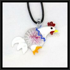 2016 New cock lampwork Murano art glass beaded pendant necklace #M10