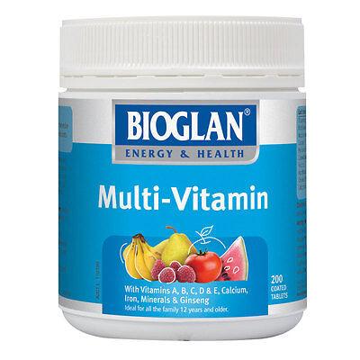 Bioglan Multi-Vitamin Tab X 200
