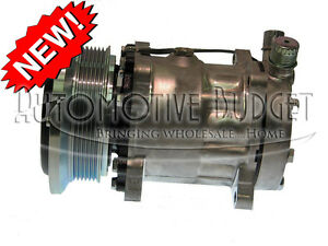 A/C Compressor w/Clutch for Sanden 4600 Ford International Navistar Trucks - NEW