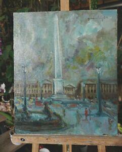 tableau-huile-toile-Paris-La-place-de-la-Concorde-signee-Perales