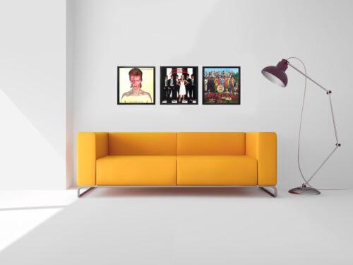 "X3 Frame Wall Art 10/"" Album Display Frames Vinyl LP Record Cover Sleeve Music"