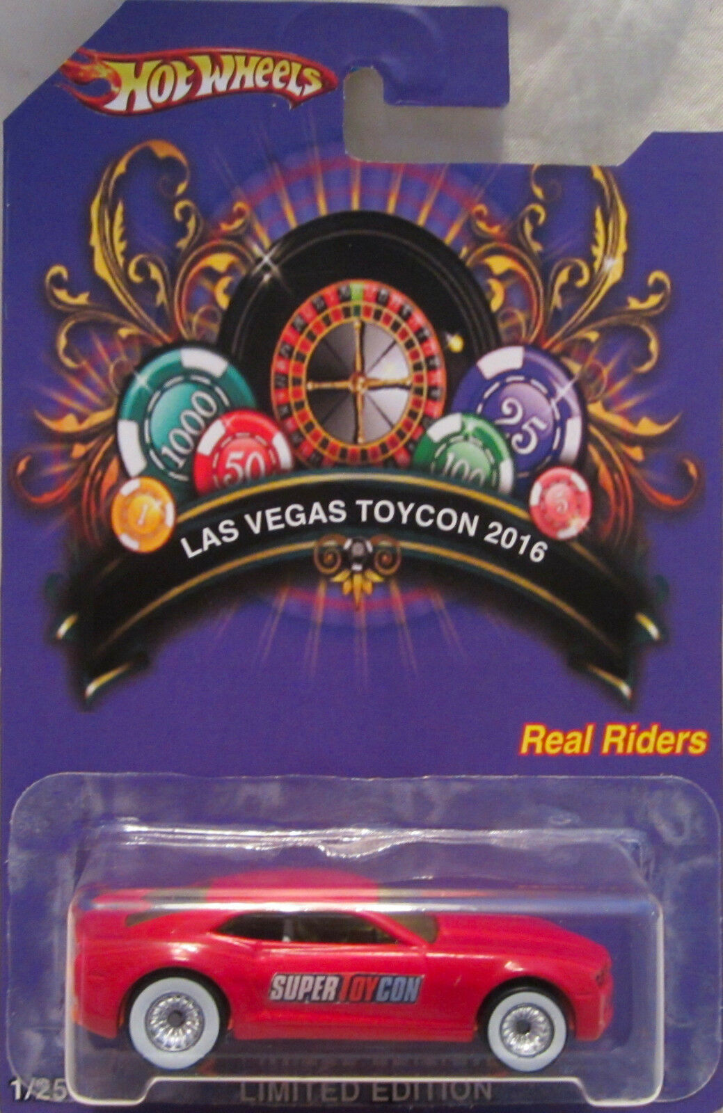 Hot Wheels Personnalisé Chevy Camaro 2016 Las Vegas Convention Real Riders 1 25