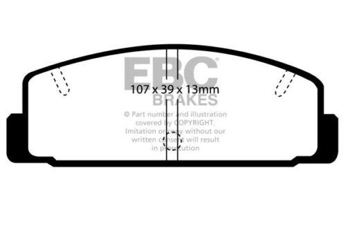 EBC Ultimax Rear Brake Pads for Mazda 323 1.8 Turbo GT-R 4WD BG 210 92-94 DP729
