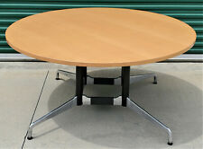 Herman Miller Eames 5 Round Conference Dining Table Segmented Aluminum Base