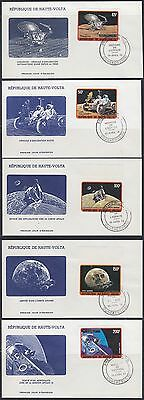 Briefmarken Obervolta Haute-volta 1973 Fdc Mi.427/31 B Weltraum Space Espace PüNktliches Timing