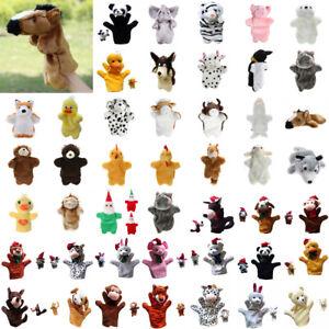 Kinder-Baby-Jungen-Karikatur-Tiere-Handschuh-Handpuppen-Fingerpuppen-Plueschtiere