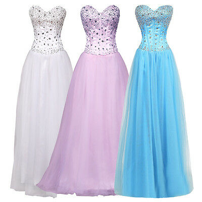 Long Formal Party Evening Dress Quinceanera Wedding Prom Ball Gown Pageant Dress