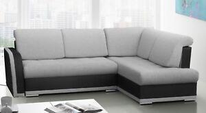 kleine ecksofa mit schlaffunktion eckcouch wohnlandschaft couch grau vero ii bis ebay. Black Bedroom Furniture Sets. Home Design Ideas