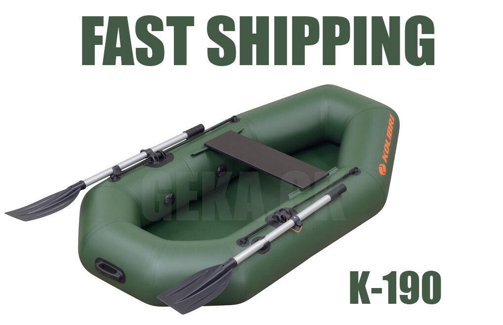 NEW KOLIBRI K-190 Inflatable Rowing Boat Premium Qualität Fishing Kayak Dinghy