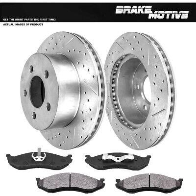 Front OE Brake Rotors /& Semi-Metallic Pads for 2000 2001 JEEP CHEROKEE XJ