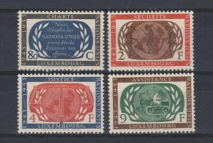 A4622) LUXEMBOURG 1955 10th UNO Anniversary MNH** 4v