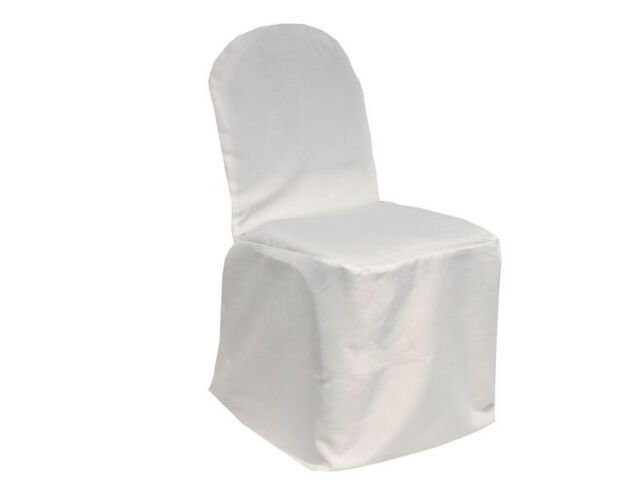 Banquet Polyester Chair Covers Wedding Party Decor - 3 Colors!
