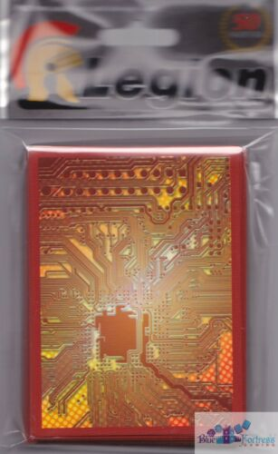 RED CIRCUIT BOARD LEGION DECK PROTECTORS CARD SLEEVES ANDROID NETRUNNER MTG