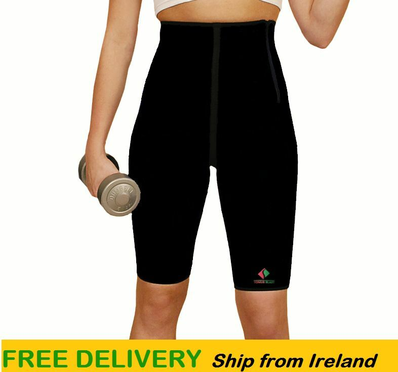 Workout Slimming Sweat Weight Loss Gym  Ladies Neoprene Compression Sauna Shorts