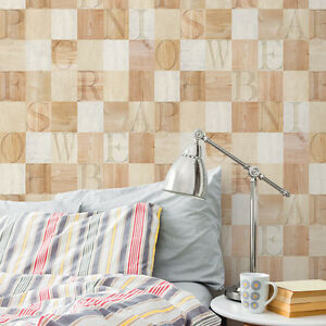 Mosaic-Wood-Tile-Effect-Self-Adhesive-Wallpaper-Vinyl-Peel-Stick-Contact-Paper