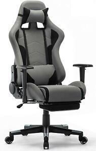 Chaise de Bureau Ergonomique Fauteuil Gaming Gamer Pro Réglable avec Repose-Pied