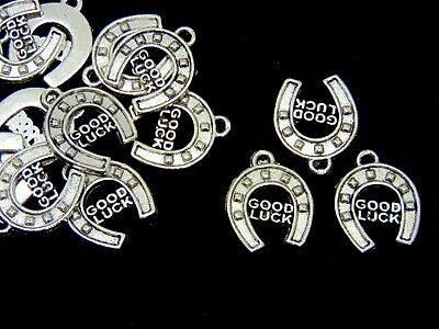 Silver Colour 15mm Tibetan Style 15 Horseshoe Lucky Charms