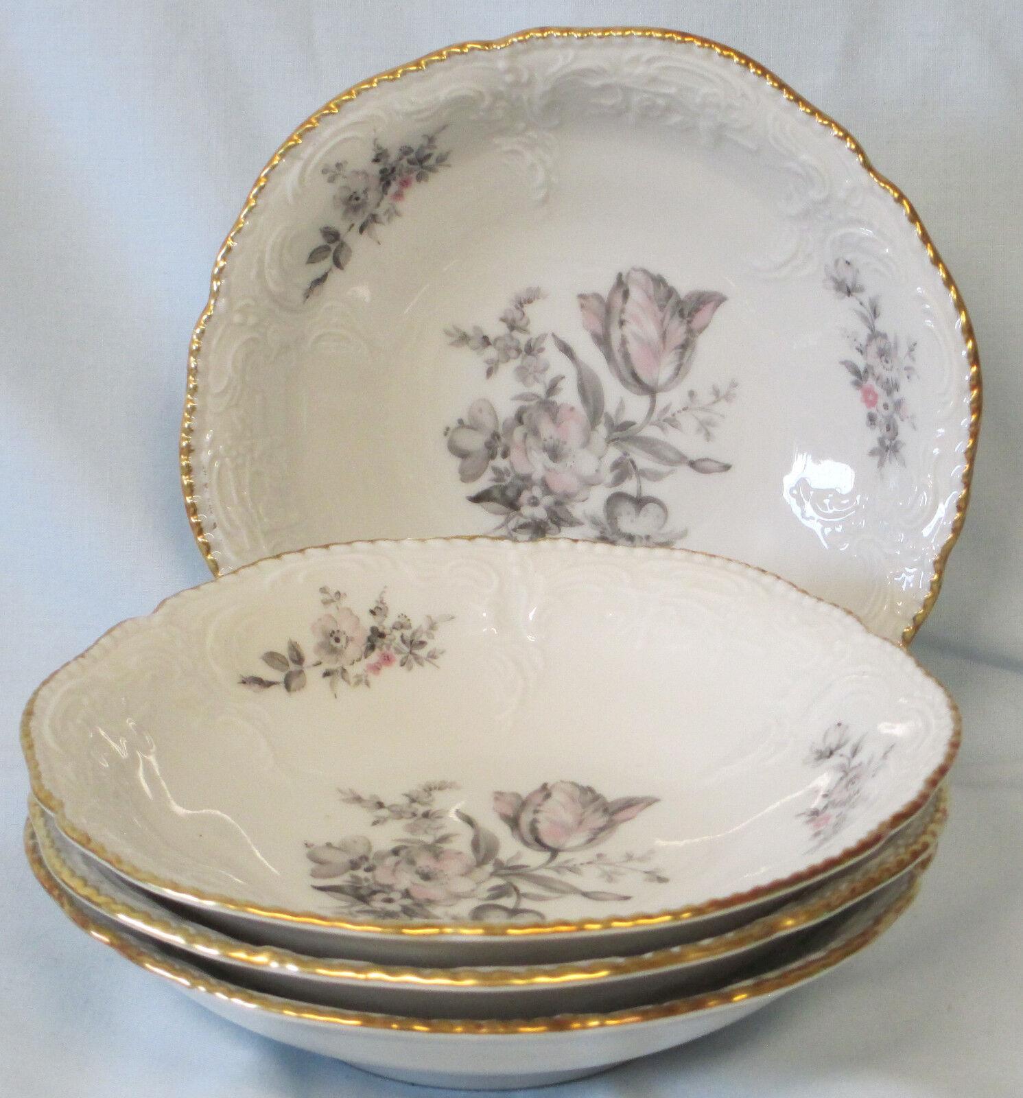 Pottery china pottery glass rosenthal sanssouci grey rose fruit or dessert bowl set of 4 reviewsmspy