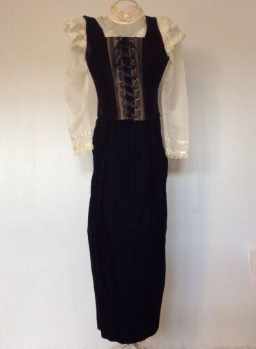 Vintage Scott Mcclintock Gunne Sax Velvet Skirt Ma