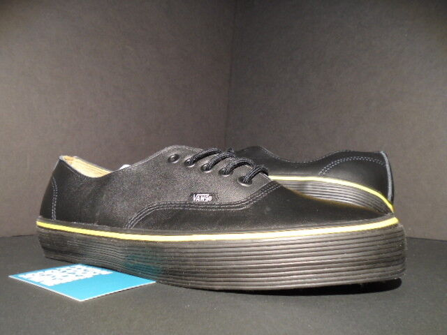 2010 VANS AUTHENTIC 69 S WTAPS BLACK YELLOW LEATHER SUPREME VN-0LX9BLK NEW 11