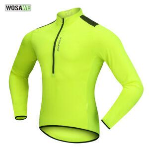 Homme-a-Manches-Longues-Maillot-De-Cyclisme-Respirant-Sechage-Rapide-Sport-Bike-Wear-Shirt-Tops
