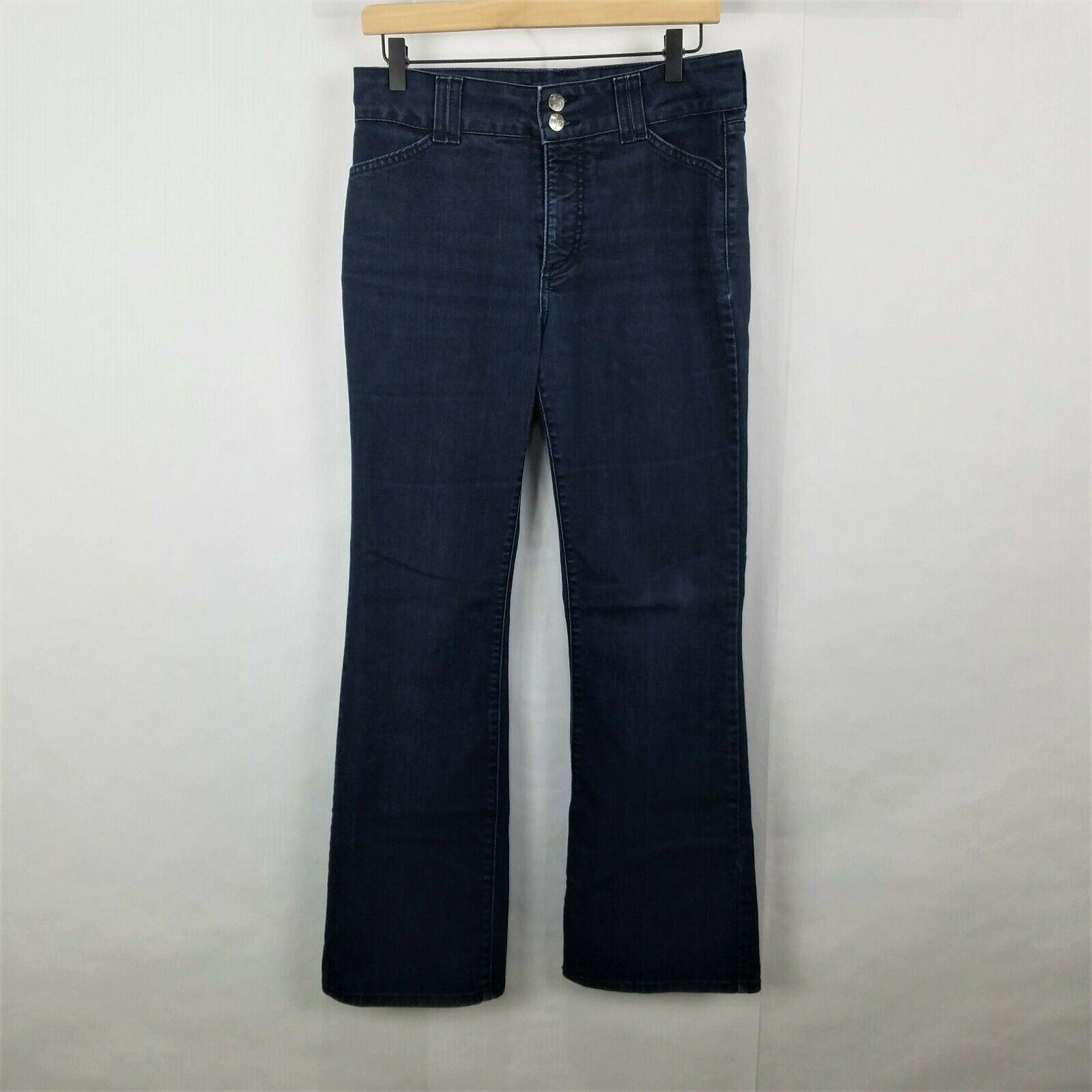 Not Your Daughters Jeans Womens Size 8 Dark Wash Bootcut Double Button Jeans
