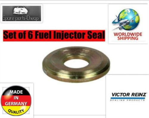 Set of 6 Fuel Injector Seal Mercedes W124 W160 190D 300D E300 300SD 300TD
