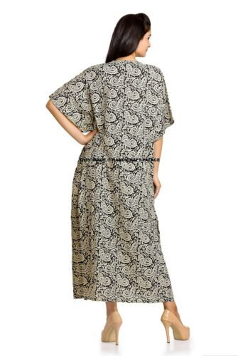 Long Gamla Kaftan Plus One Size Maxi Kaftan Cotton Gown Indian Women Long Dress