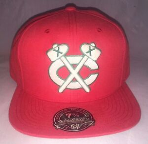 Image is loading Chicago-Blackhawks-Mitchell-amp-Ness-Red-Throwback-Baseball - f070250f1e7