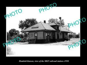 OLD-LARGE-HISTORIC-PHOTO-OF-HUMBOLT-KANSAS-THE-MKT-RAILROAD-STATION-c1950