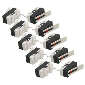 10-Pcs-AC-125V-1A-SPDT-1NO-1NC-Momentane-long-levier-de-charniere-Commutate-I5Z7