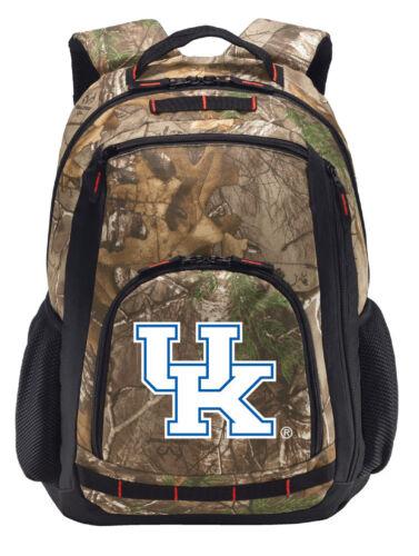 Kentucky Wildcats Camo Backpack REALTREE University of Kentucky Computer Bag