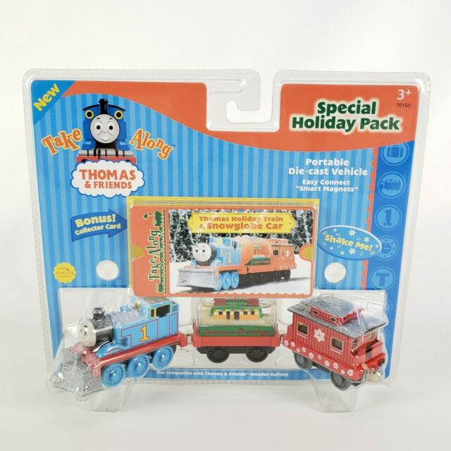 Thomas The Train Take Along Holiday Train Snowglobe Car 2003 Die Cast Magnet New