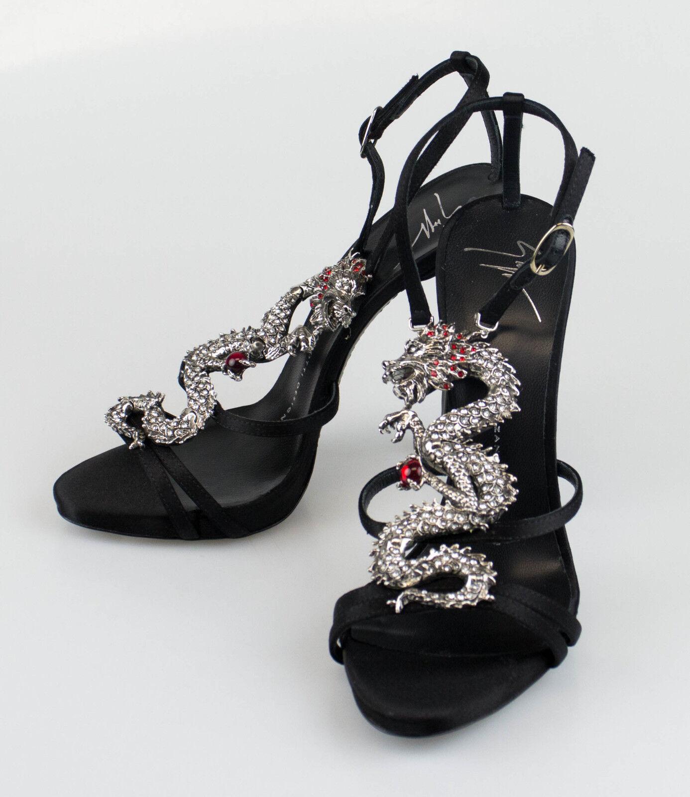 New. GIUSEPPE ZANOTTI Coline Raso Doppiato Heels shoes Size Size Size 8 US 38 EU  1750 d89ad7