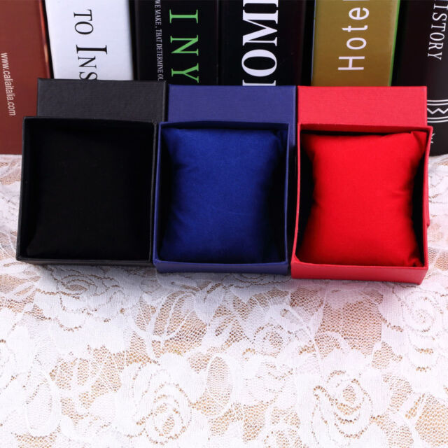 Present Gift Boxes Case For Bangle Jewelry Ring Earrings Wrist Watch Box  PM