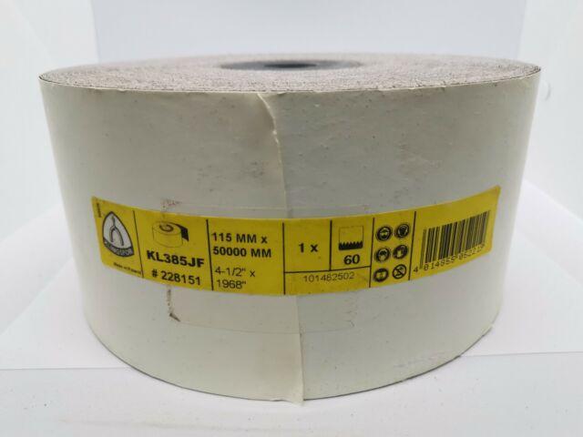 Klingspor Abrasive KL385JF Finishing paper sanding roll 115mm x 50000mm 60 Grit