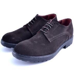Scarpe shoes stringate Must uomo man pelle leather marrone Geox brown testamoro