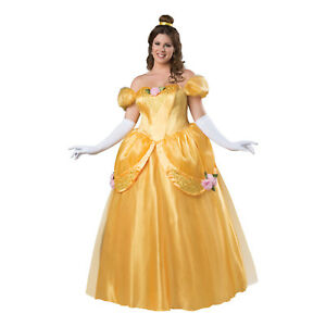 d4004585cea Details about Adult Women's Plus Princess Beauty Halloween Belle Cosplay  Costume Gown Dress