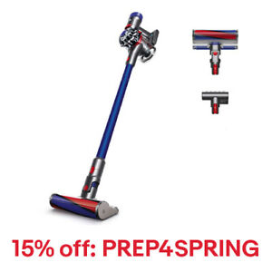 Dyson V7 Fluffy HEPA Cordless Vacuum Cleaner | Blue | New, 15% Off: PREP4SPRING