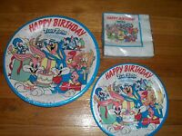 3pc Lot Of Beach Tiny Toons Birthday Party Goods Multi-color
