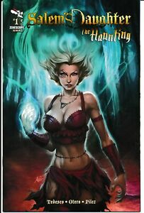 Salem-039-s-Daughter-The-Haunting-1-NM-Rare-Artgerm-2011-Grimm-Fairy-Tales-Zenescope