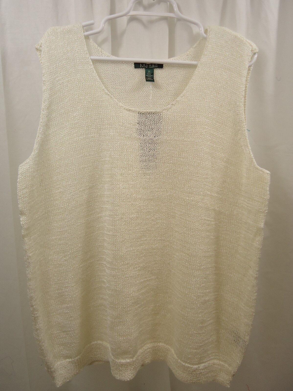 Women's Lauren Ralph Lauren Sleeveless   Sweater 3X  NWT