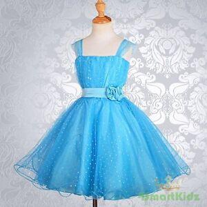 Blue-Wedding-Flower-Girl-flowergirl-Party-Dress-Size-11-12-FG031A