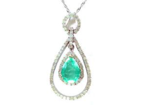 4-30-CTS-esmeralda-colombiana-amp-Collar-de-Diamantes-en-Oro-Blanco-18K
