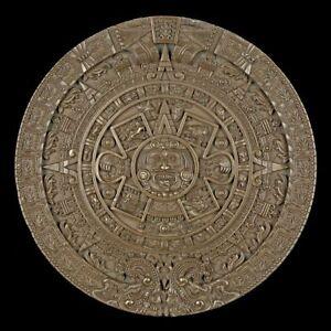 wandrelief der azteken kalender antik wand deko
