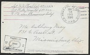 American Occ Netherlands New Guinea covers 1945 cens cover Camp Washington