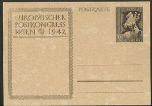 Vintage Postcard- Germany {1942} European Postal Congress, Vienna, Unposted