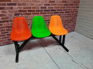Chair-Set-1-12-scale-3d-printed-action-figure-shop-garage-diorama-prop-Kit-USA