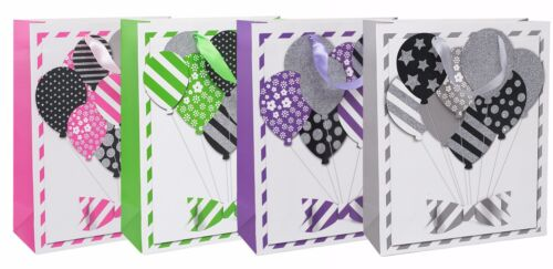 Colours Design Paper Party Gift Bag Birthday Christmas Medium Large Small